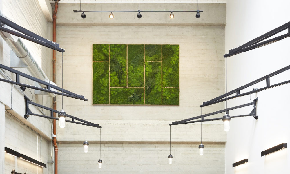 Artisan Moss green wall art interior